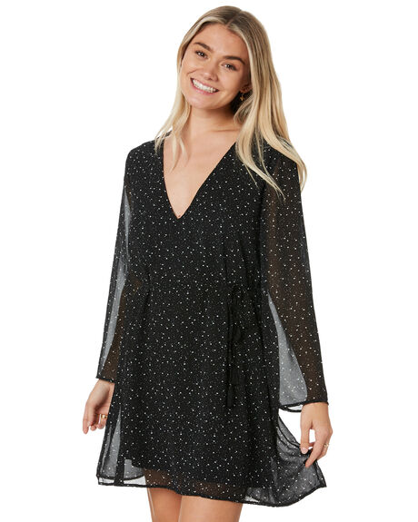 BLACK WOMENS CLOTHING RUSTY DRESSES - DRL1043BLK