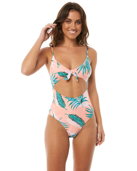 Rip Curl Sunkissed Palms One Piece - Peach  156637793