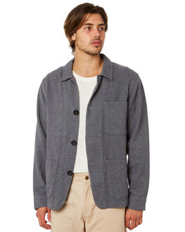 NAVY MENS CLOTHING AFENDS JACKETS - M191581NVY