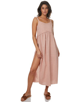 TERRACOTTA LINEN WOMENS CLOTHING SAINT HELENA DRESSES - SH2A133LTERRL