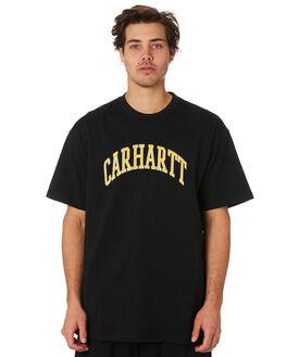 BLACK MENS CLOTHING CARHARTT TEES - I02627789
