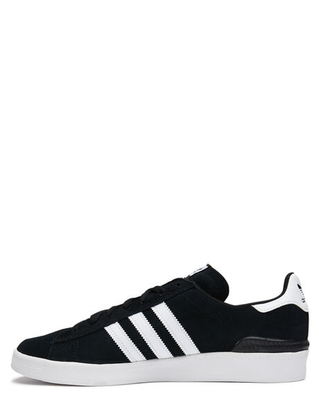 BLACK WHITE MENS FOOTWEAR ADIDAS SKATE SHOES - SSB22716BLKM