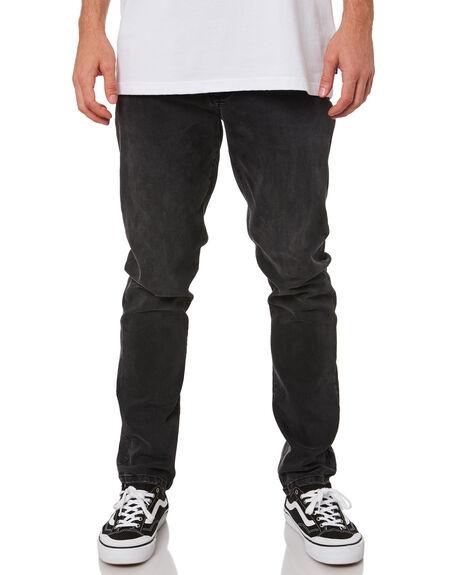 BLACK MENS CLOTHING RUSTY JEANS - PAM1057BLK