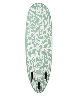 GREEN WHITE BOARDSPORTS SURF SOFTECH SOFTBOARDS - BOMII-SGW-510GRNWH
