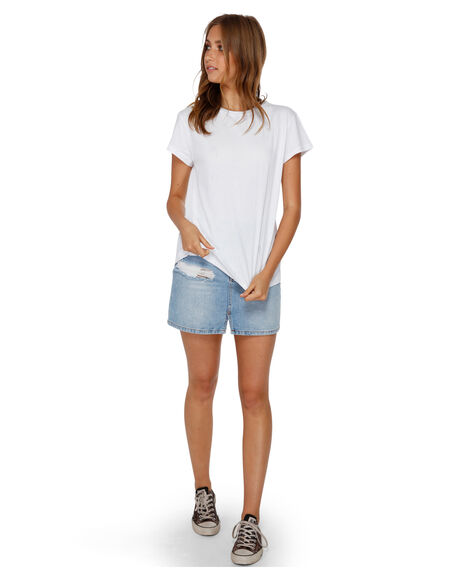 WHITE WOMENS CLOTHING BILLABONG TEES - BB-6581149-WHT