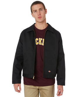 BLACK MENS CLOTHING DICKIES JACKETS - TJ75BK