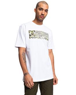 SNOW WHITE MENS CLOTHING DC SHOES TEES - UDYZT03661-WBB0