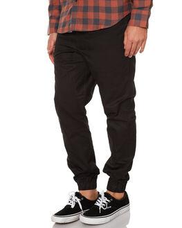 BLACK MENS CLOTHING OURCASTE PANTS - P-1009BLK