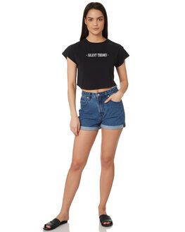 BLACK WOMENS CLOTHING SILENT THEORY TEES - 6022041BLK