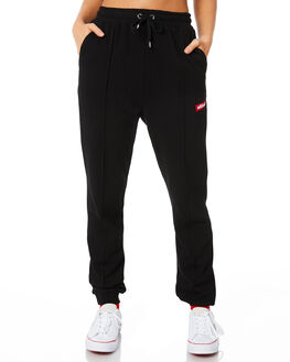 BLACK WOMENS CLOTHING STUSSY PANTS - ST186601BLK