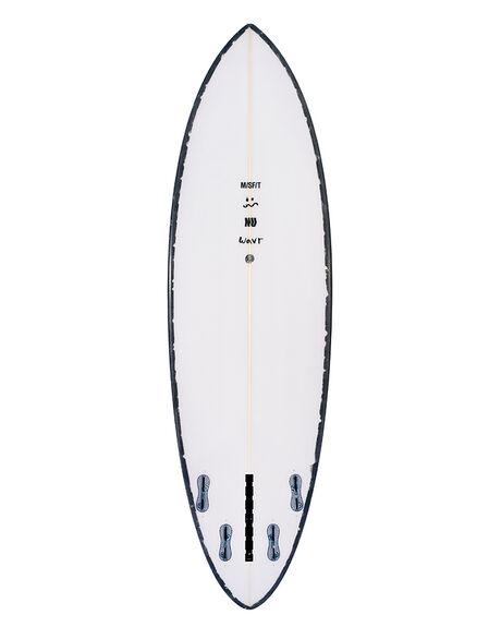 WHITE BLACK SURF SURFBOARDS MISFIT PERFORMANCE - NUWAVRWHBLK