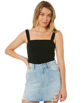 BLACK WOMENS CLOTHING MINKPINK FASHION TOPS - MP1804005BLK