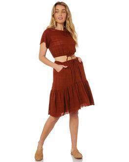 BALIWOOD BROWN WOMENS CLOTHING RUE STIIC SKIRTS - WS18-07-BW-XBALI