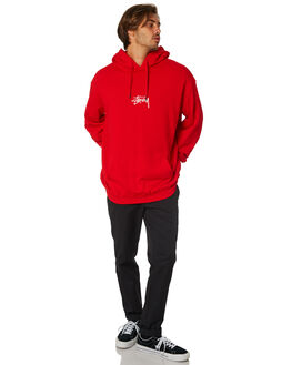 RISKY RED MENS CLOTHING STUSSY JUMPERS - ST095202RSRED