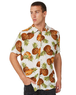 WHITE PINEAPPLE MENS CLOTHING BARNEY COOLS SHIRTS - 305-MC4IWHPNE