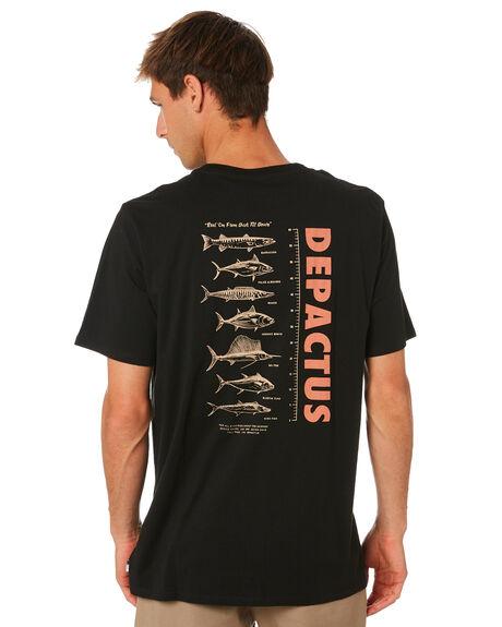 BLACK MENS CLOTHING DEPACTUS TEES - D5204003BLACK