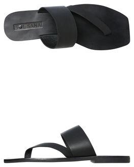 BLACK WOMENS FOOTWEAR SOL SANA SLIDES - SS192S423BLK