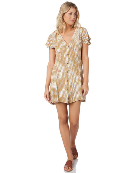 GOLD WOMENS CLOTHING RIP CURL DRESSES - GDRCH90146
