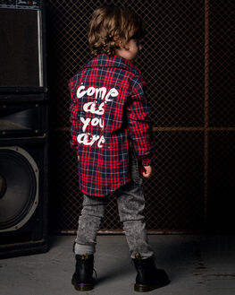 RED TARTAN KIDS BOYS ROCK YOUR KID TOPS - TBT1977-CAREDT