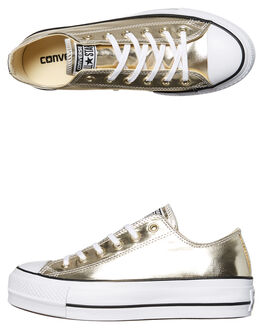 GOLD WOMENS FOOTWEAR CONVERSE SNEAKERS - 560249GOLD
