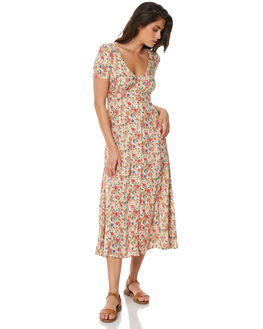 NATURAL WOMENS CLOTHING AUGUSTE DRESSES - AMG2-17661NAT