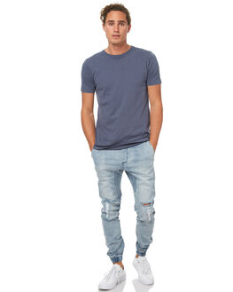 MID BLUE RIP MENS CLOTHING ZANEROBE PANTS - 704-WANIMBLRP