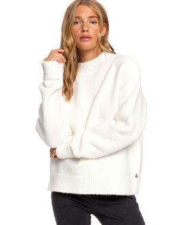 SNOW WHITE WOMENS CLOTHING ROXY KNITS + CARDIGANS - ERJSW03388-WBK0