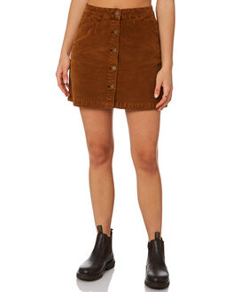 MUSTANG BROWN WOMENS CLOTHING THRILLS SKIRTS - WTA20-301CMSTBR