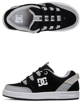 BLACK/WHITE/ARMOR KIDS BOYS DC SHOES SNEAKERS - ADBS100257-KWA