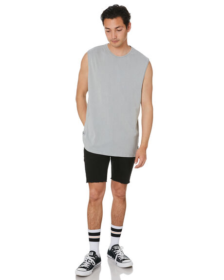 DRIZZLE MENS CLOTHING SILENT THEORY SINGLETS - 40X0025GRY