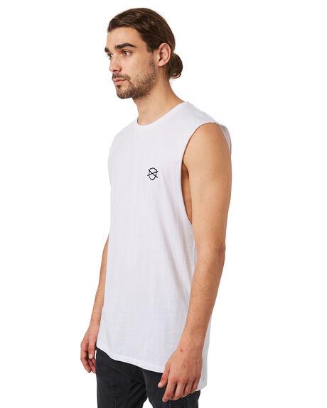 WHITE MENS CLOTHING ZANEROBE SINGLETS - 116-METWHT