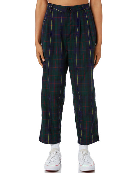 GREEN WOMENS CLOTHING STUSSY PANTS - ST195627GRN