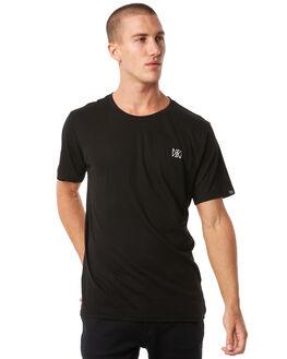 BLACK MENS CLOTHING MAYWOOD TEES - MTZ708BLACK