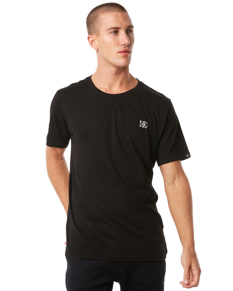 BLACK MENS CLOTHING MAYWOOD TEES - MTZ708BLACK
