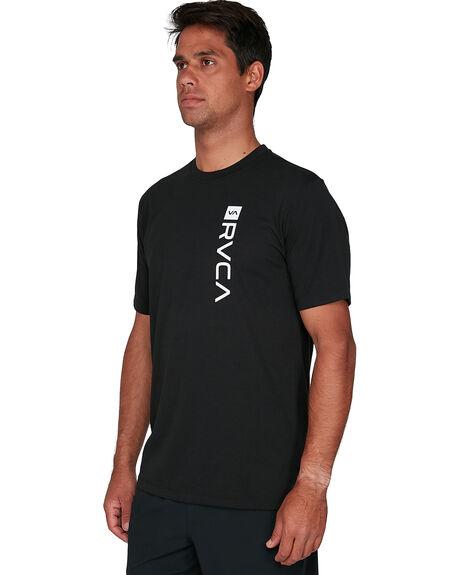 BLACK MENS CLOTHING RVCA TEES - RV-R391046-BLK