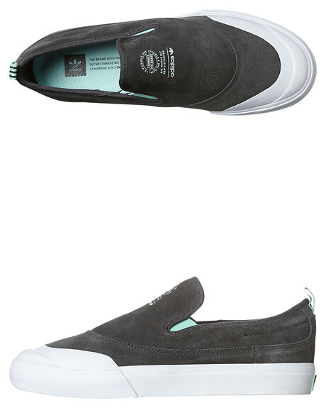 200ca085b877 Adidas Originals Matchcourt Slip Adv Shoe - Grey Green White ...