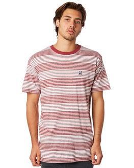 BORDEAUX MENS CLOTHING RVCA TEES - R382047BORDX