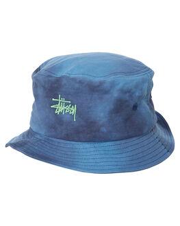 BLUE MENS ACCESSORIES STUSSY HEADWEAR - ST793005BLUE