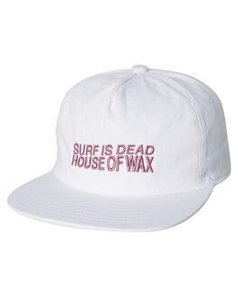 WHITE OUTLET MENS SURF IS DEAD HEADWEAR - SD18HA6-03WHT