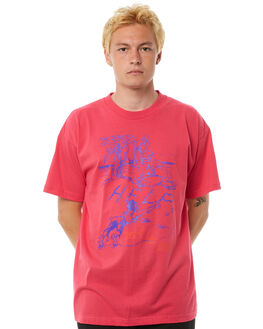 PINK OUTLET MENS SURF IS DEAD TEES - SD17P4-07PINK