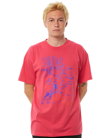 PINK MENS CLOTHING SURF IS DEAD TEES - SD17P4-07PINK