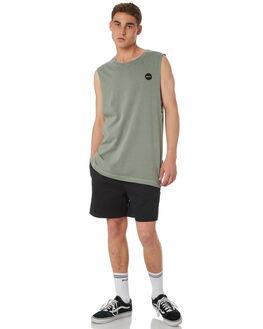 BLACK MENS CLOTHING RVCA BOARDSHORTS - R182414BLK