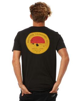 BLACK MENS CLOTHING DEPACTUS TEES - D5183004BLACK