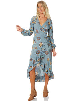 BLUE WOMENS CLOTHING TIGERLILY DRESSES - T383446BLUE
