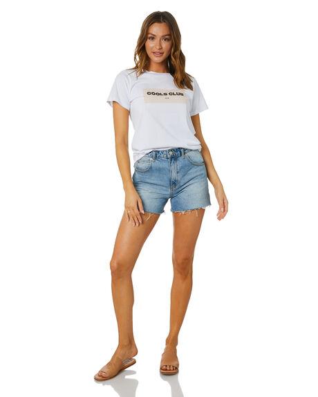 WHITE WOMENS CLOTHING COOLS CLUB TEES - 124-CW7WHT