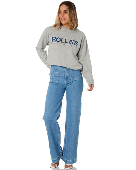 GREY MARLE WOMENS CLOTHING ROLLAS JUMPERS - 13695GMARL