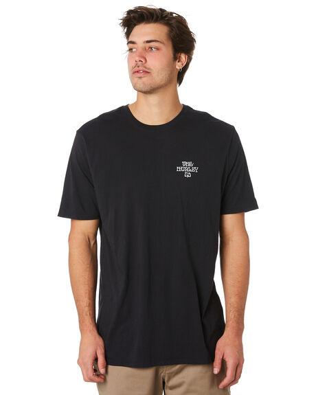 BLACK MENS CLOTHING HURLEY TEES - AR5457010