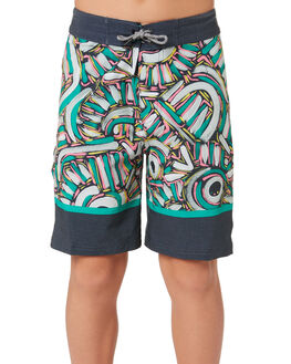 BLACK KIDS BOYS RIP CURL BOARDSHORTS - KBOVN20090