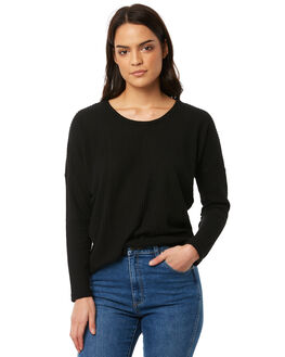 BLACK WOMENS CLOTHING ALL ABOUT EVE TEES - 6413058BLK