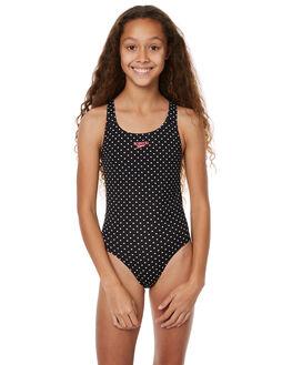 BLACK WHITE TROPICAL KIDS GIRLS SPEEDO SWIMWEAR - 42S54-6090